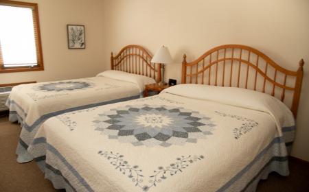 Queen beds on first floor