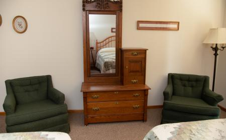 Antique dresser and chairs